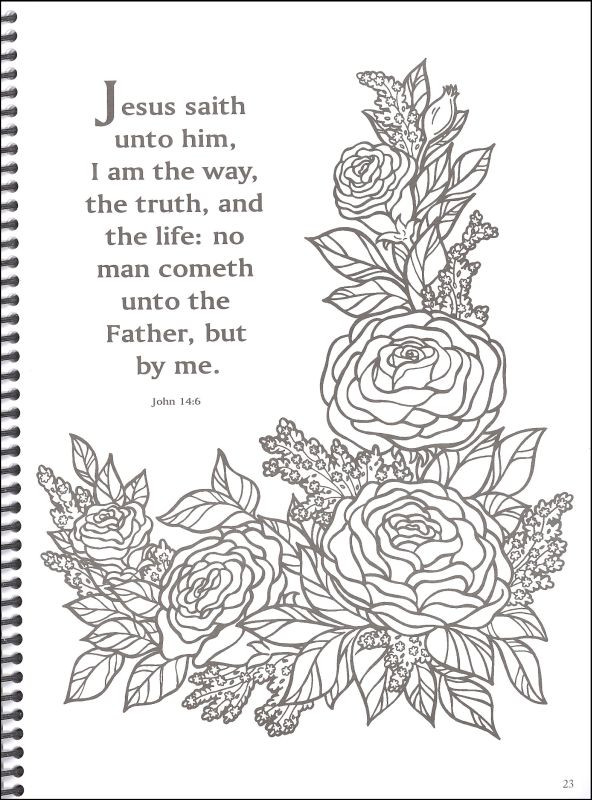 Bible Verses Coloring Pages For Adults  Free coloring pages of adult religious