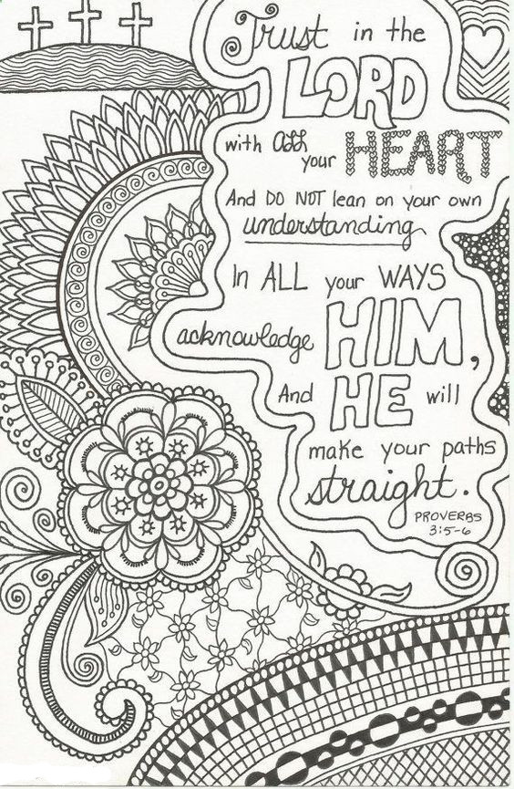 Bible Verses Coloring Pages For Adults  Free Printable Christian Coloring Pages for Kids Best