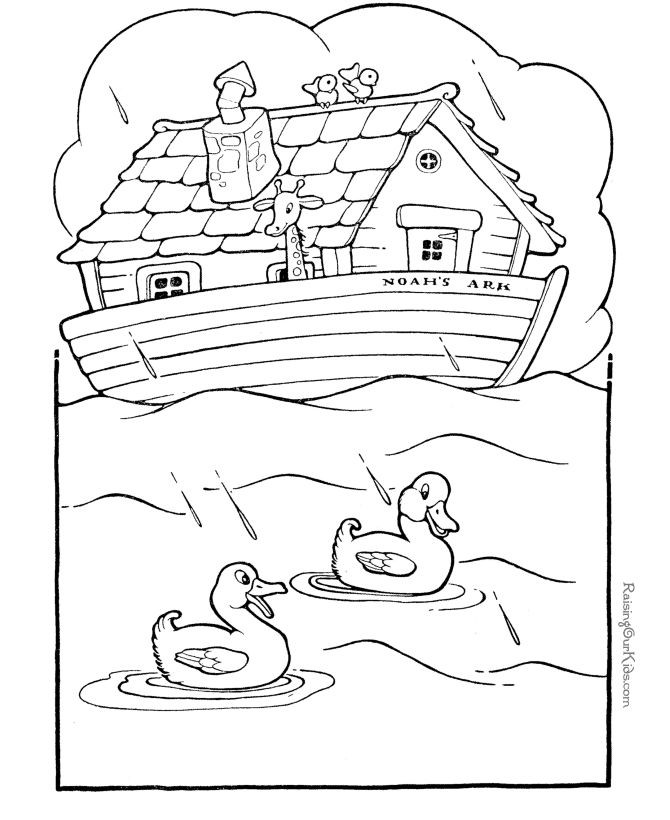 Bibles Study Coloring Sheets For Kids  Free printable Noah s Ark Bible coloring pages