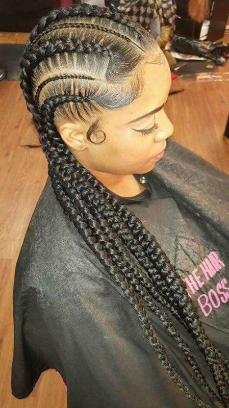 Best ideas about Big Braid Little Braid Hairstyles . Save or Pin 50 Best Black Braided Hairstyles for African Women 2017 Now.