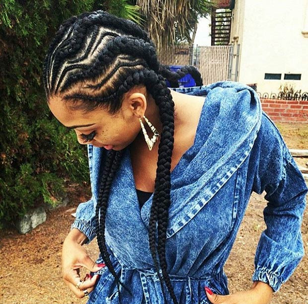 Best ideas about Big Braid Little Braid Hairstyles . Save or Pin Big Corn Rolls Styles Now.