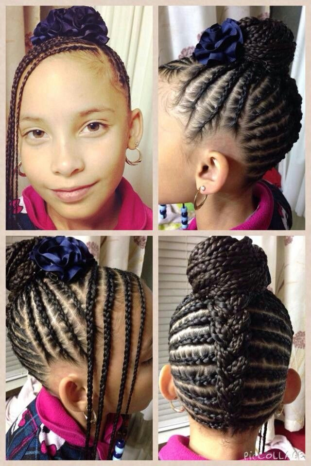 Best ideas about Big Braid Little Braid Hairstyles . Save or Pin Beautiful naturalhair naturalhairkids cornrows Now.