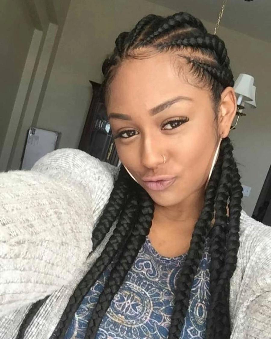Big Cornrows Braids Hairstyles  Trendy Nigerian cornrow hairstyles for 2018 YEN GH