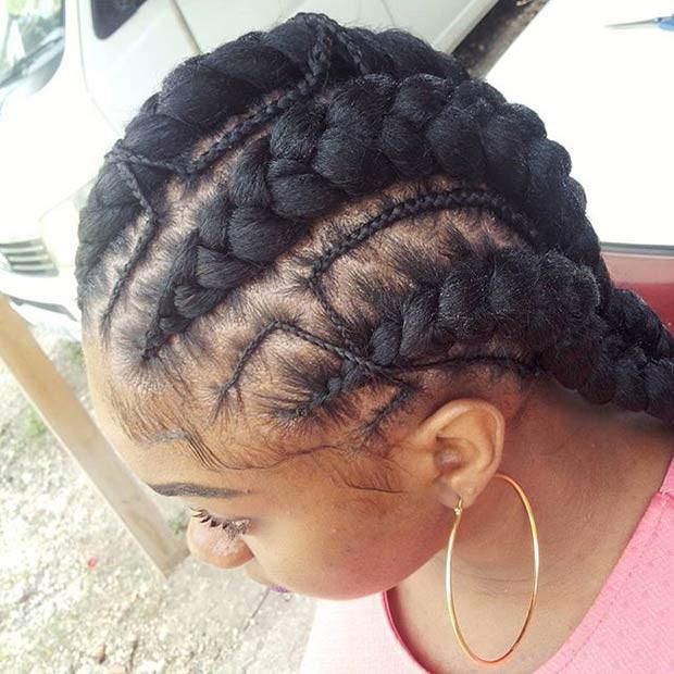 Big Cornrows Braids Hairstyles  31 Stylish Ways to Rock Cornrows Page 2 of 3