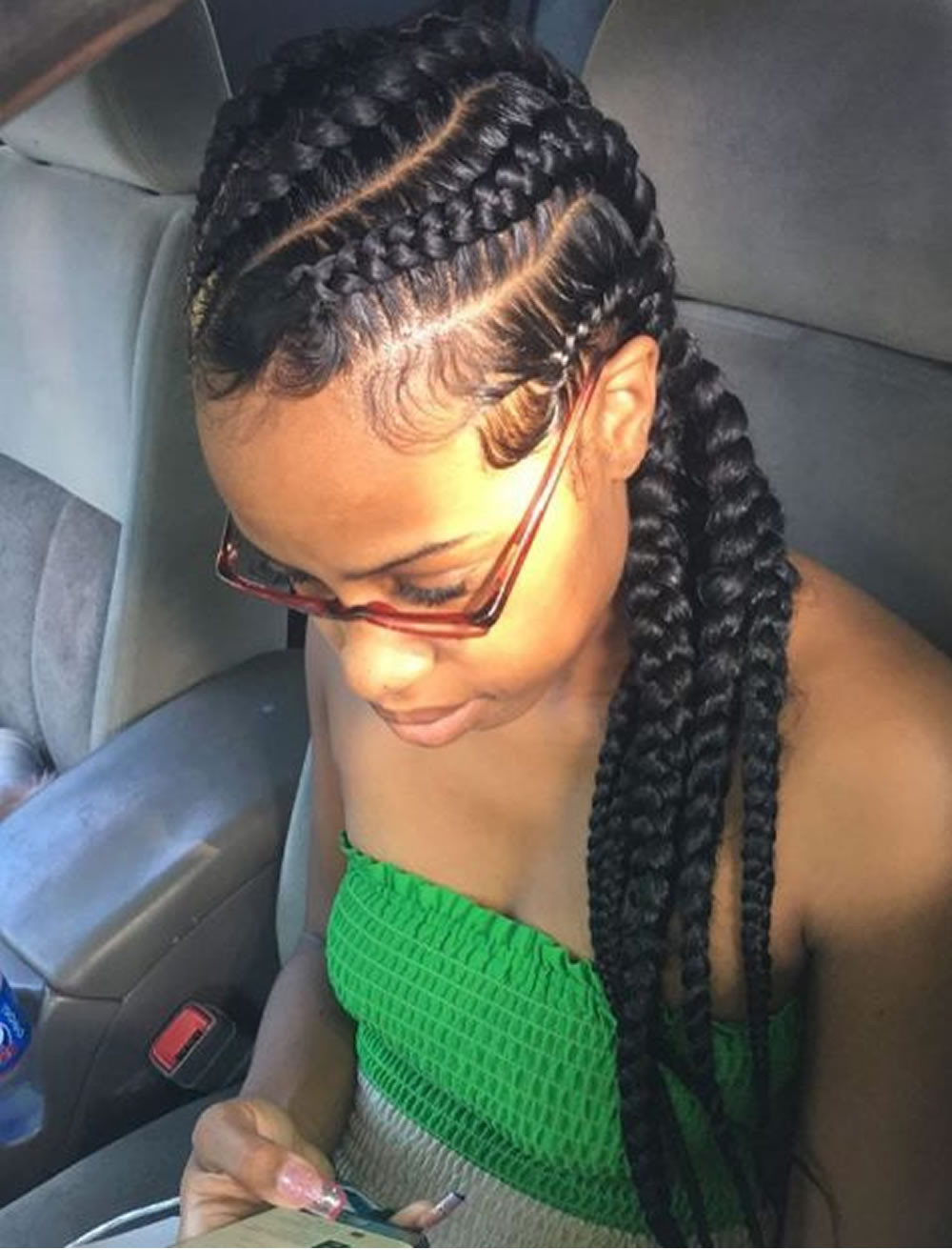 Big Cornrows Braids Hairstyles  20 Best African American Braided Hairstyles for Women 2017