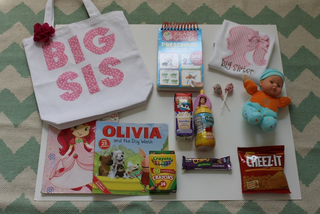 Big Sister Gift Ideas From New Baby  Create visitor bags for siblings What to Pack for Your