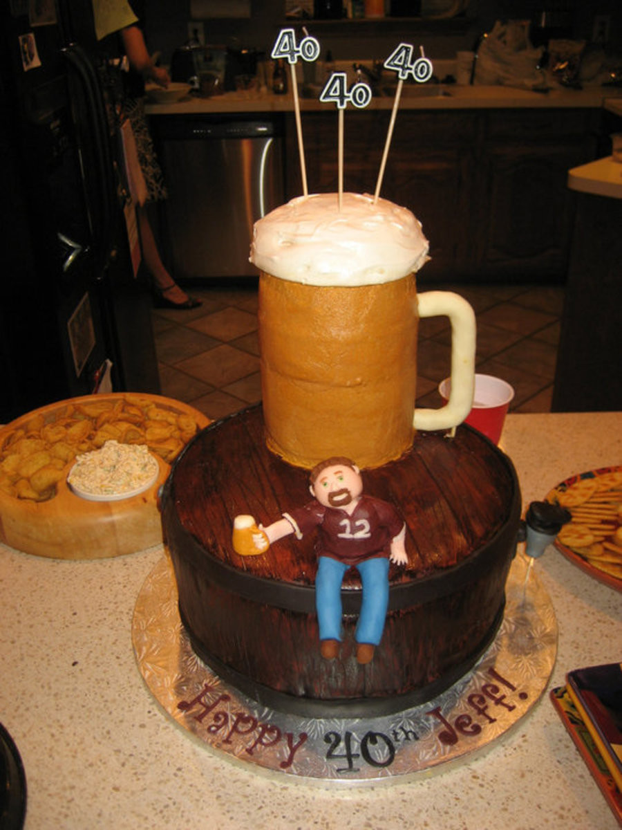 Best ideas about Birthday Beer Cake . Save or Pin 40Th Birthday Beer Cake CakeCentral Now.