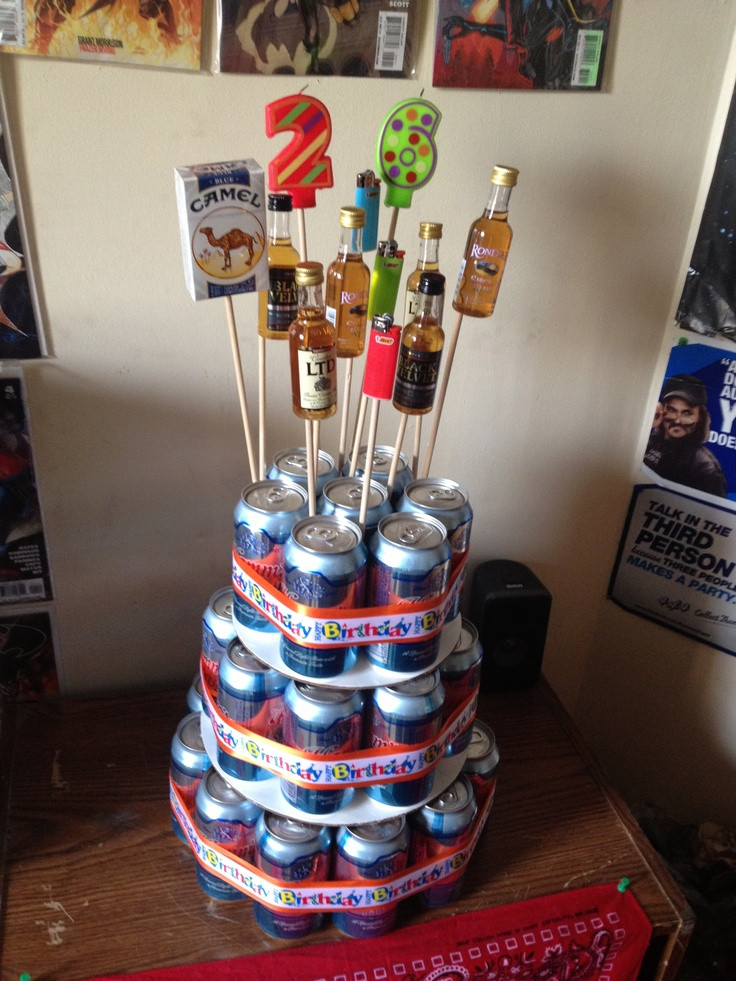 Best ideas about Birthday Beer Cake . Save or Pin 17 Best images about Happy 21st on Pinterest Now.