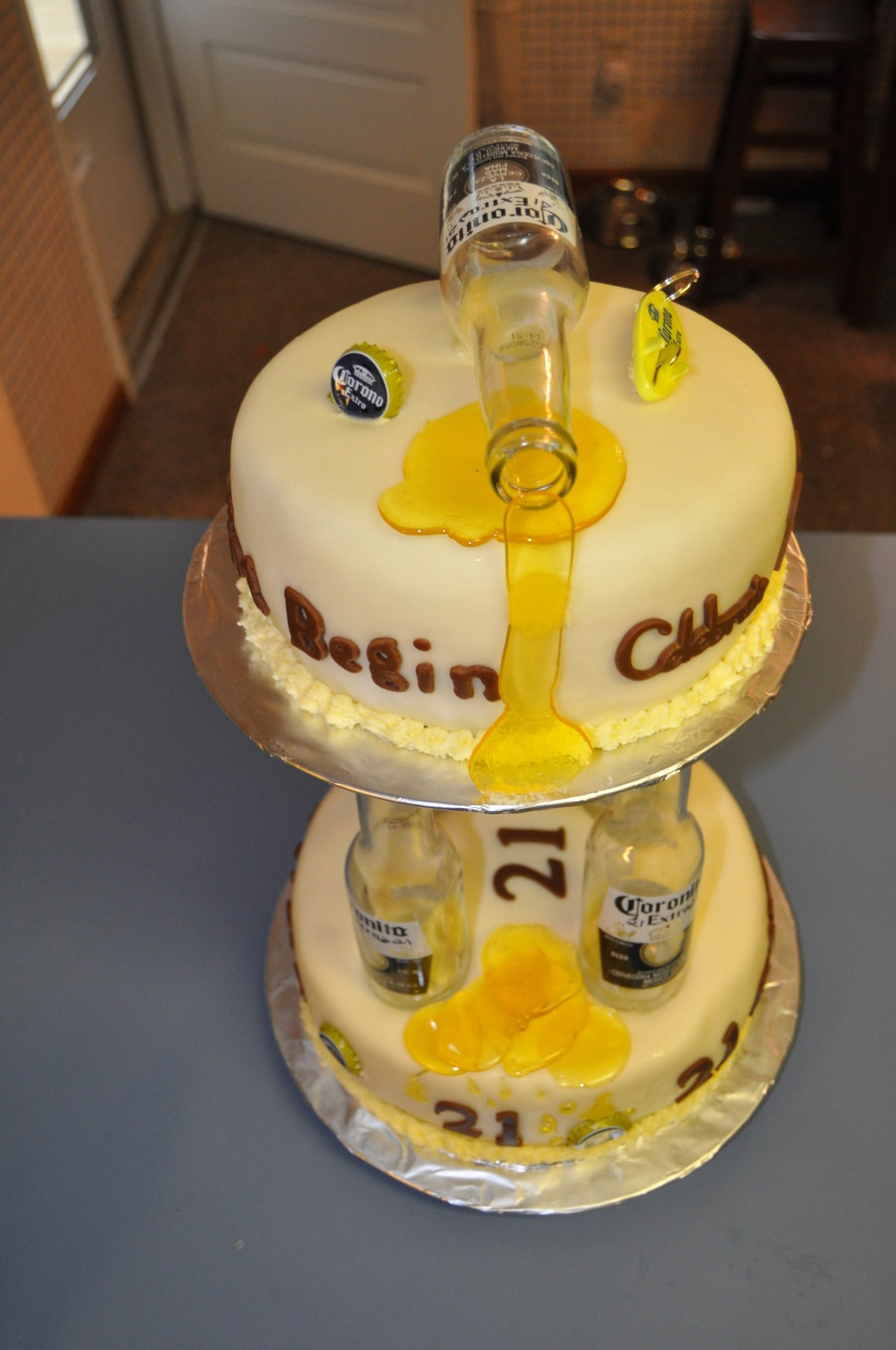 Best ideas about Birthday Beer Cake . Save or Pin 21St Birthday Beer Cake CakeCentral Now.