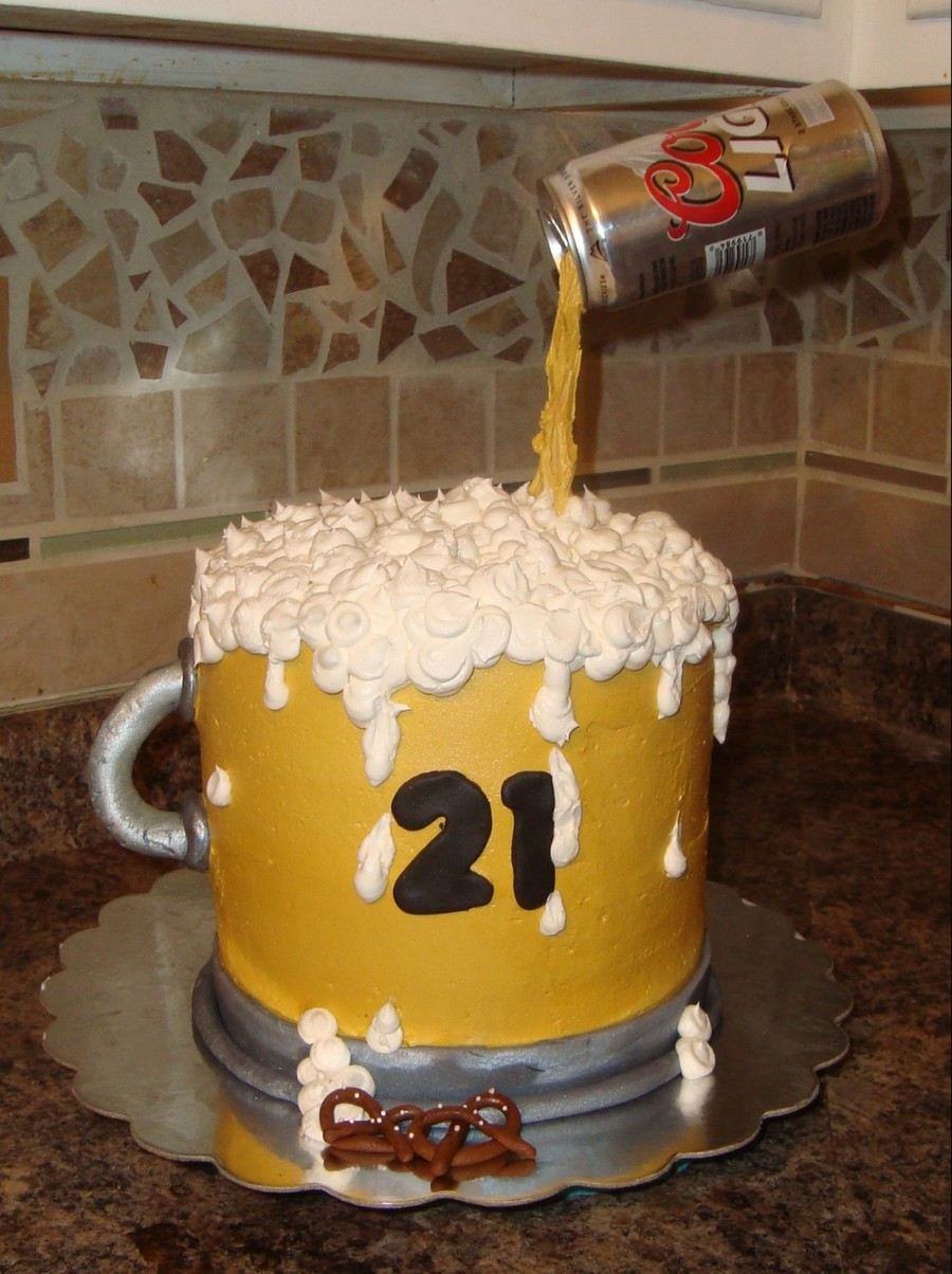 Best ideas about Birthday Beer Cake . Save or Pin Beer Mug Birthday Cake CakeCentral Now.