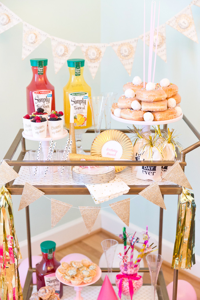 Birthday Brunch Ideas  Birthday Brunch Bar Cart Party