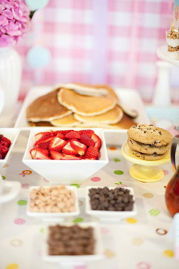 Birthday Brunch Ideas  Kara s Party Ideas Pancakes and Pj s 3rd Birthday
