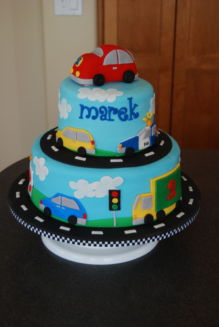 Birthday Cake For Boys  Made for a little boy who loves anything with wheels