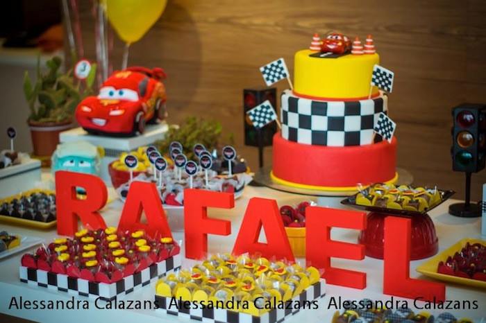 Best ideas about Birthday Car Decorations . Save or Pin Kara s Party Ideas Lightning McQueen Cars Birthday Party Now.