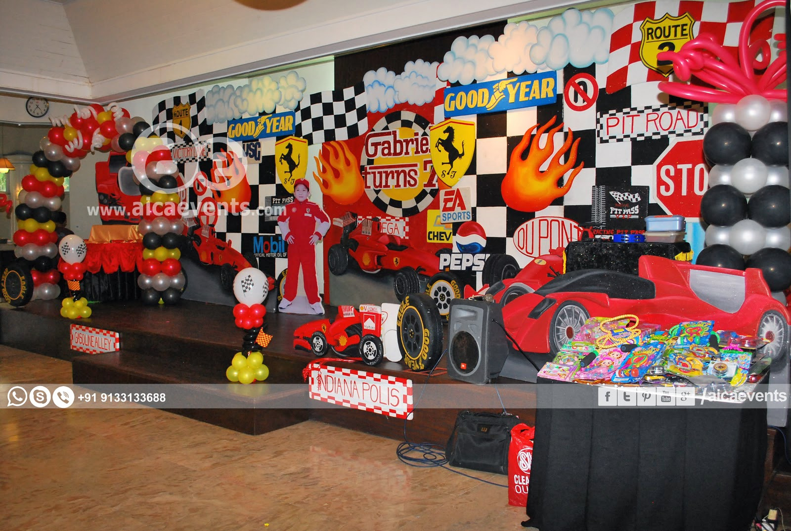 Best ideas about Birthday Car Decorations . Save or Pin aicaevents Car Themed Birthday party Now.