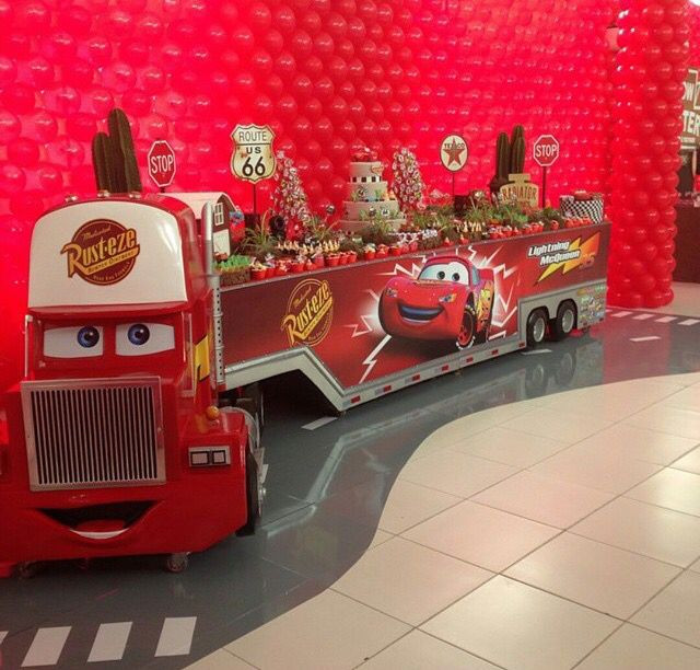 Best ideas about Birthday Car Decorations . Save or Pin Lightning McQueen dessert table Now.
