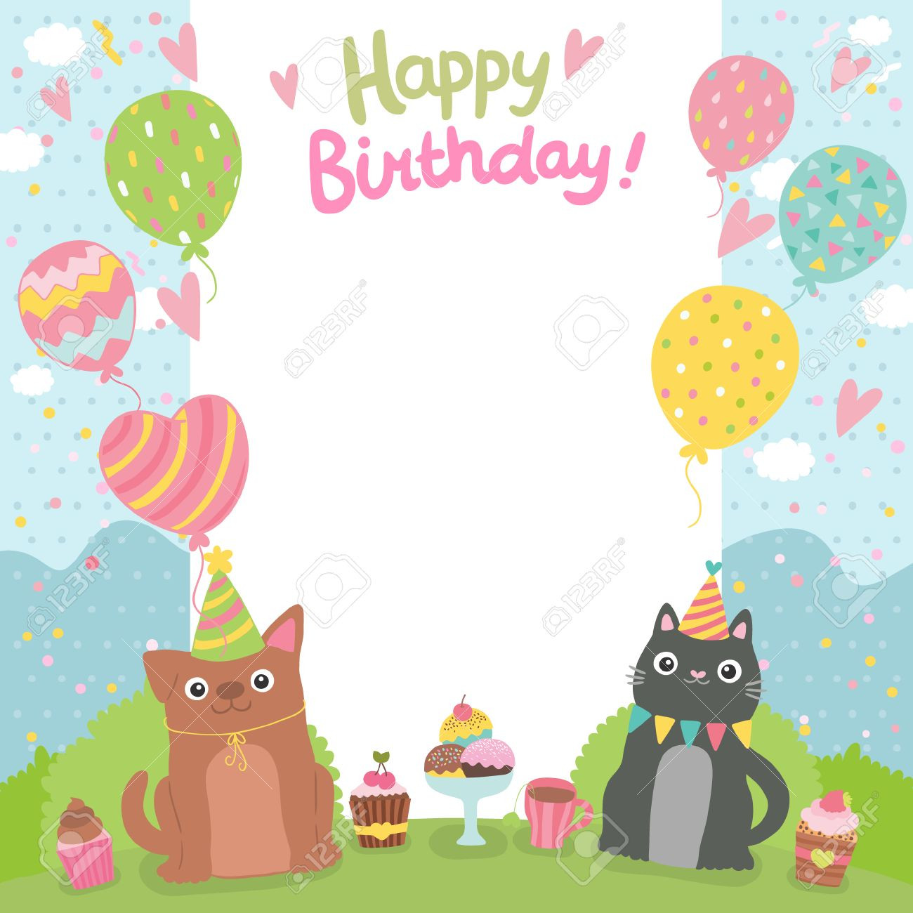 Best ideas about Birthday Card Template . Save or Pin Happy Birthday Card Template regarding Happy Birthday Card Now.