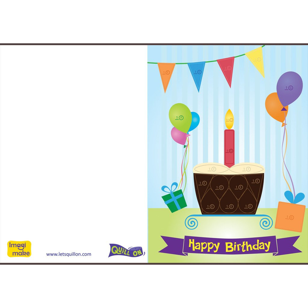 Best ideas about Birthday Card Template . Save or Pin Easy to Make Quilling Birthday Cards Quill Now.
