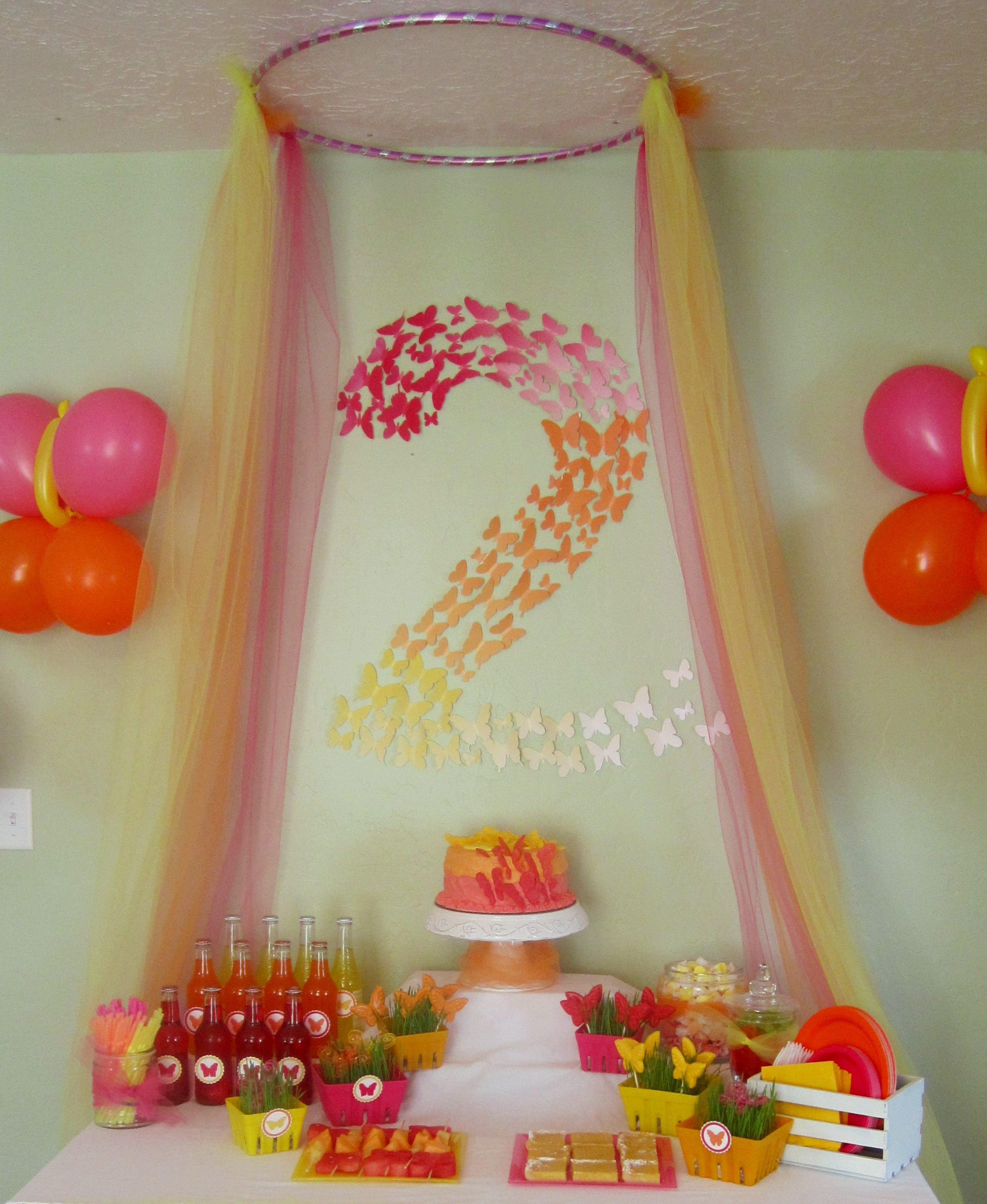 Best ideas about Birthday Decorating Ideas . Save or Pin Butterfly Themed Birthday Party Decorations events to Now.