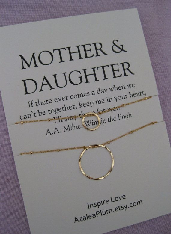 Birthday Gift Ideas Mom  Mother DAUGHTER Jewelry Mother s day Gift Mother