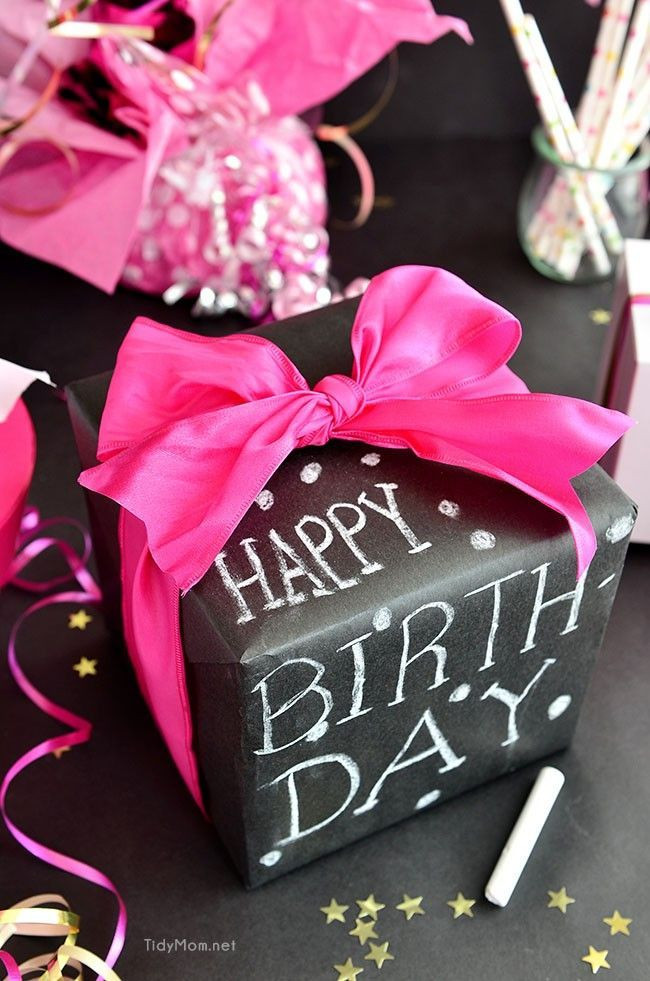 Birthday Gift Wrapping Ideas  50th Birthday Gift Idea