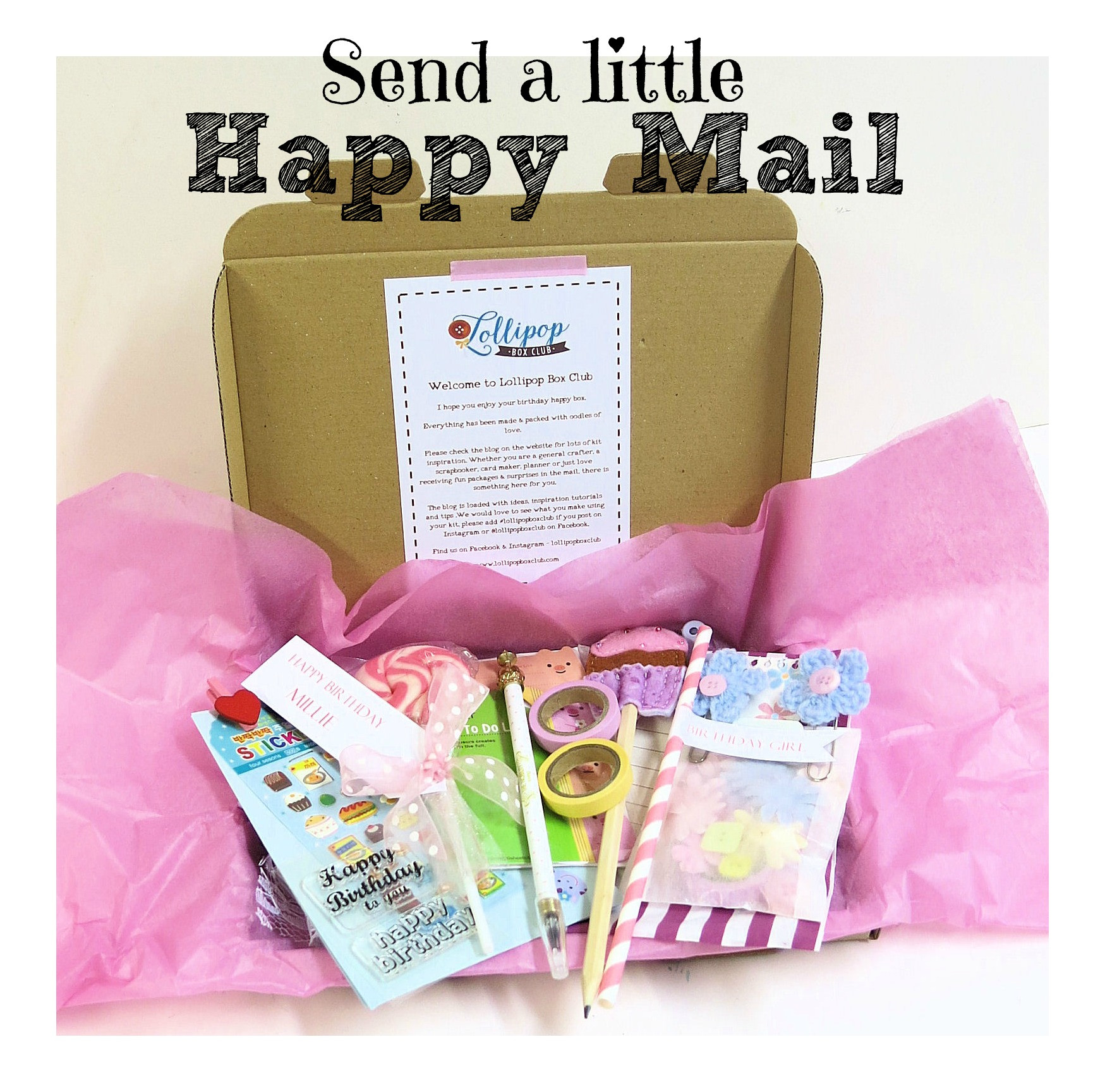 Birthday Gifts By Mail  The Best Happy Mail Lollipop Box Club