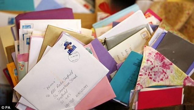 Birthday Gifts By Mail  Widow Winnie Blagden sent 16 000 100th birthday cards