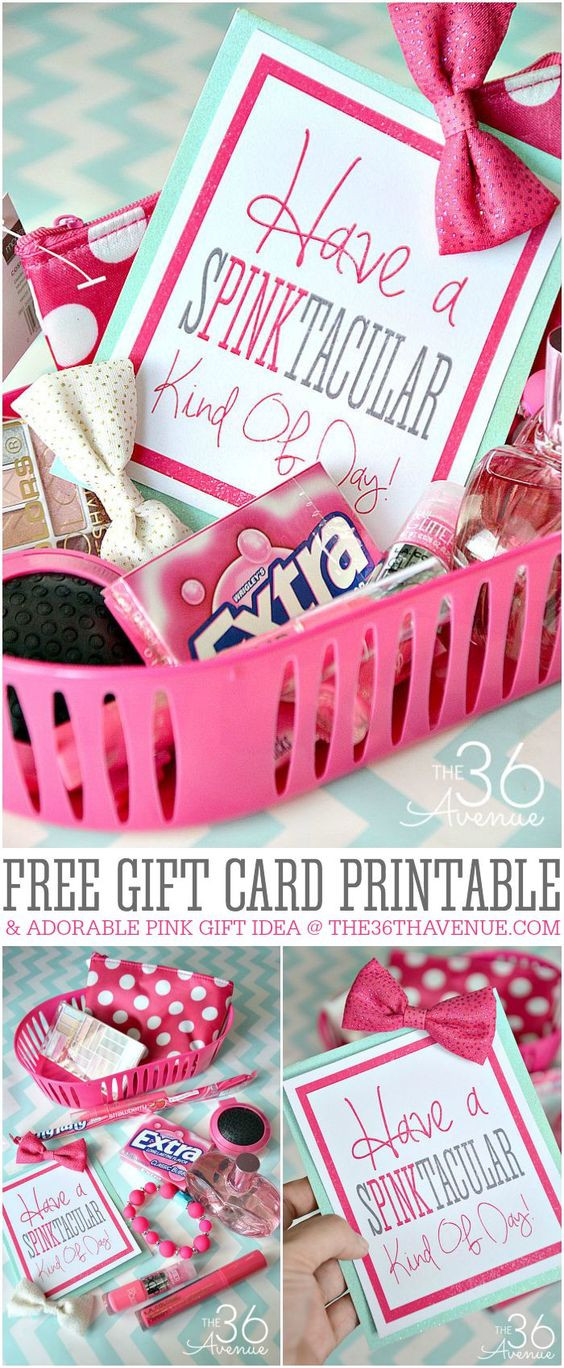 Birthday Gifts By Mail  Pink ts Gift ideas and Free printable on Pinterest