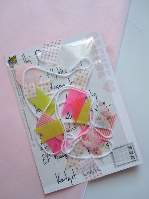 """Birthday Gifts By Mail  Snail Mail t MT flags tiny banner with """"smile and"""