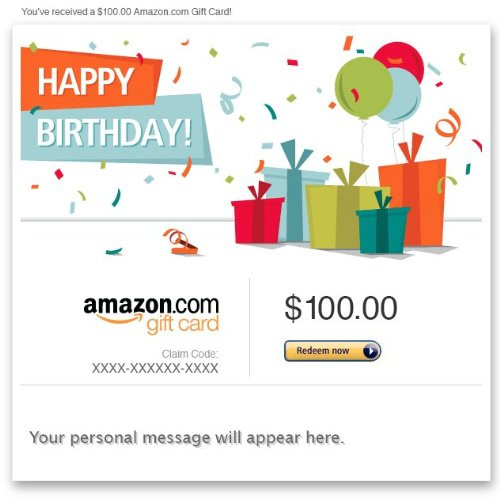 Birthday Gifts By Mail  Amazon Gift Card E mail Happy Birthday Presents
