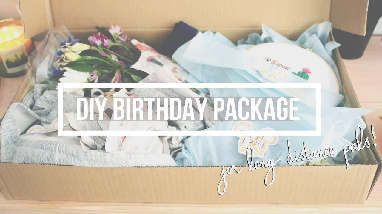 Birthday Gifts By Mail  How To Mail A Present DIY Birthday Package for Faraway