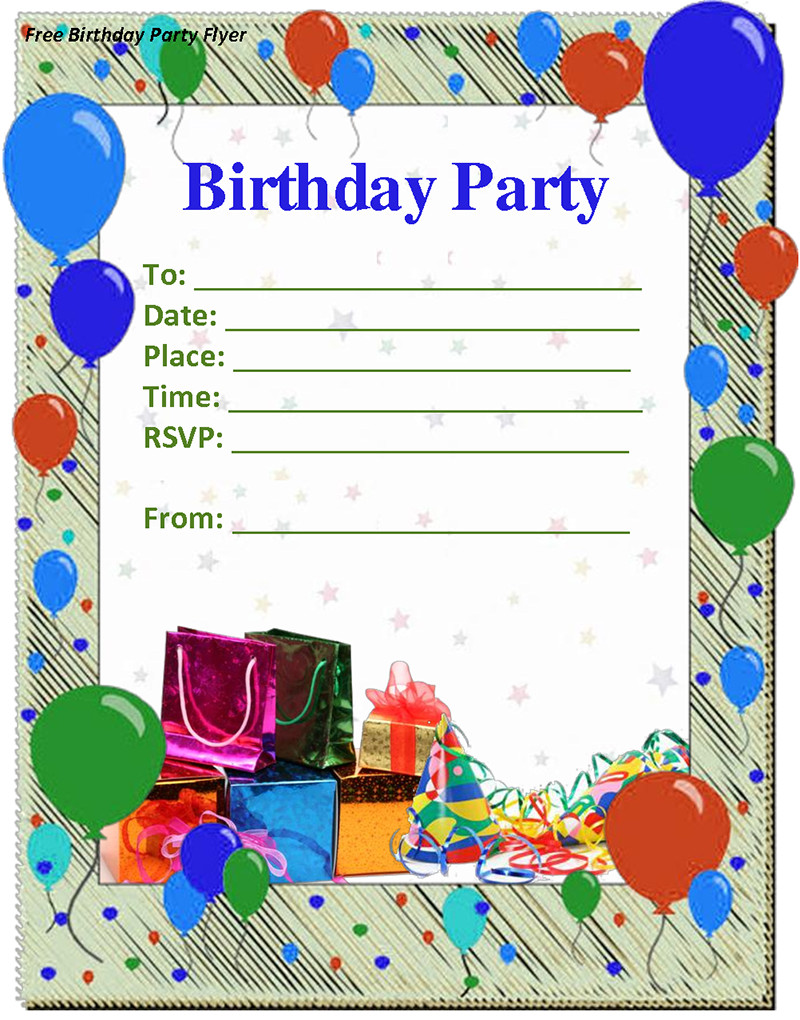 Birthday Invitations Template  9 Birthday Party Invitation Templates Free Word Designs