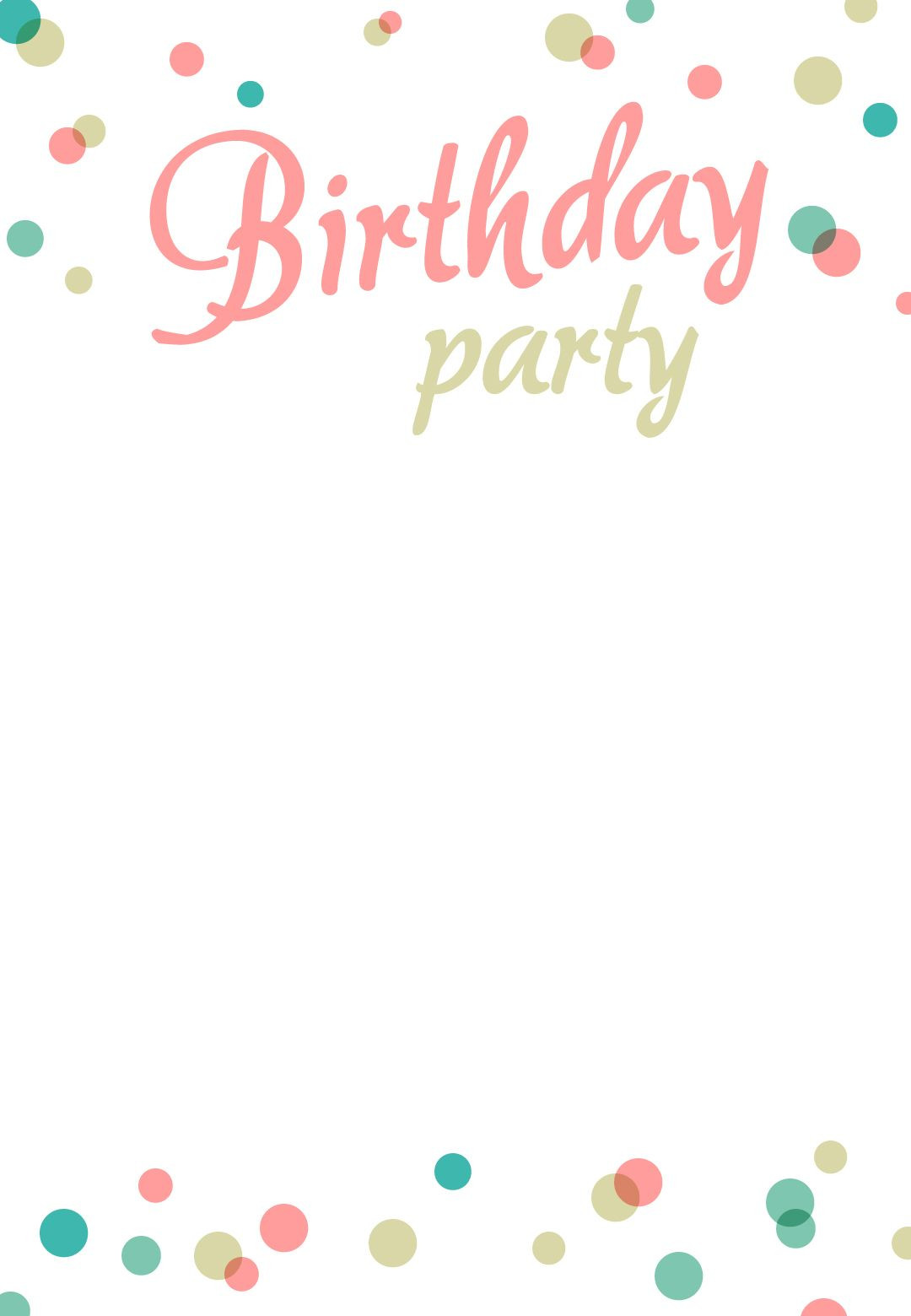 Birthday Invitations Template  Birthday Party Invitation Free Printable