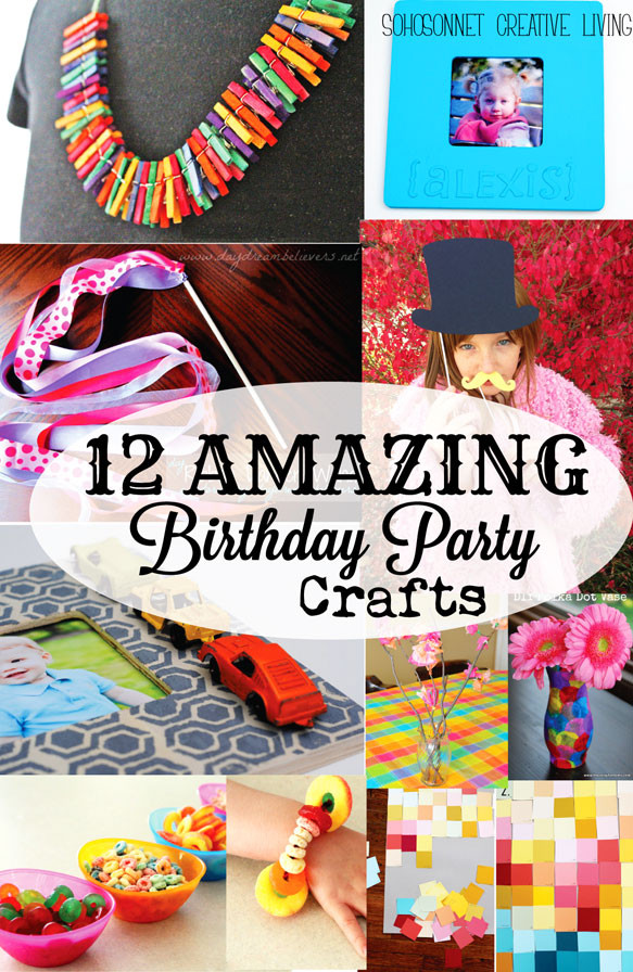 Birthday Party Activities For Toddlers  12 Birthday Party Craft Activities for Kids SohoSonnet