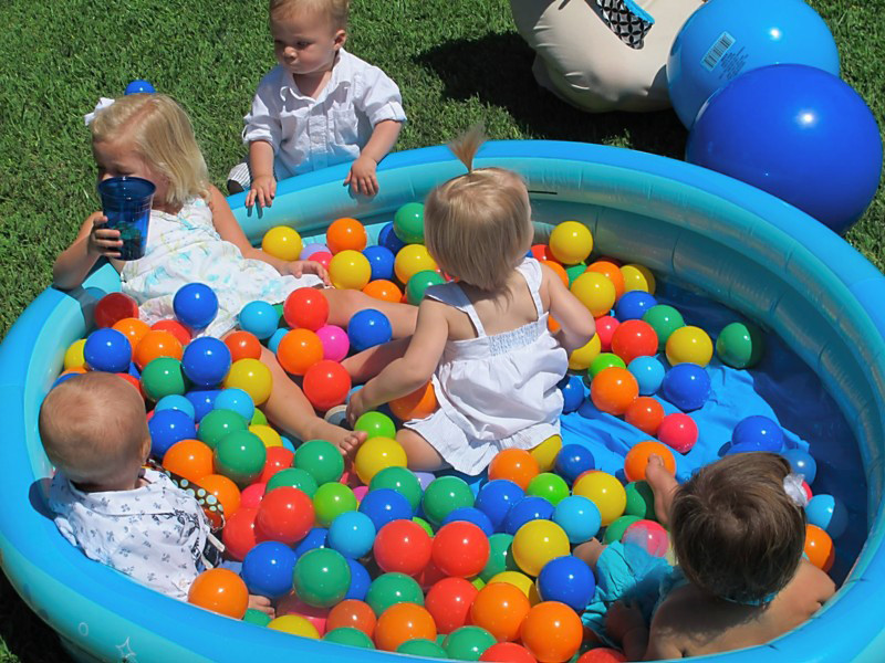 Birthday Party Activities For Toddlers  inflatable pool & balls
