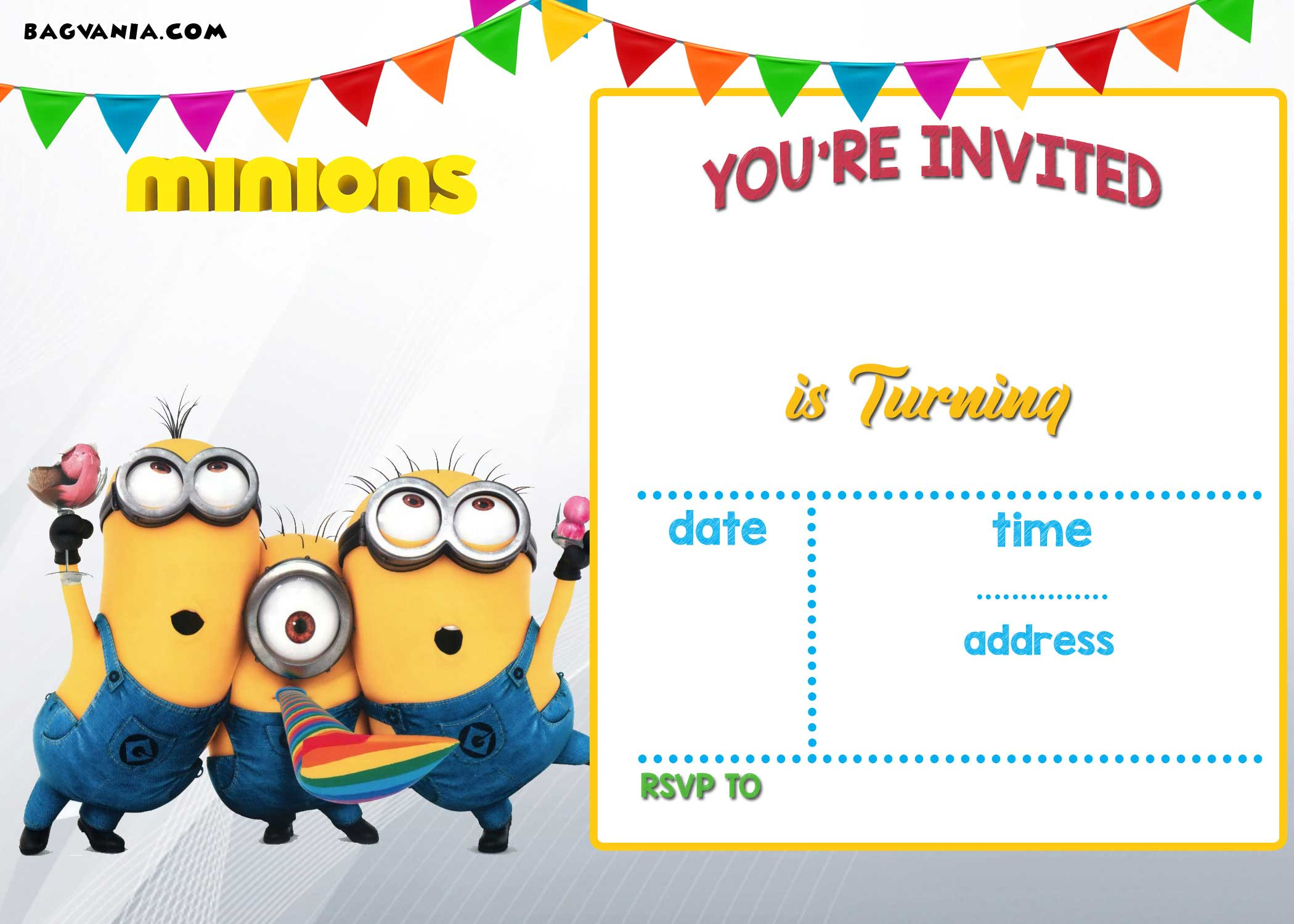 Best ideas about Birthday Party Invitations Free . Save or Pin FREE Printable Minion Birthday Party Invitations Ideas Now.