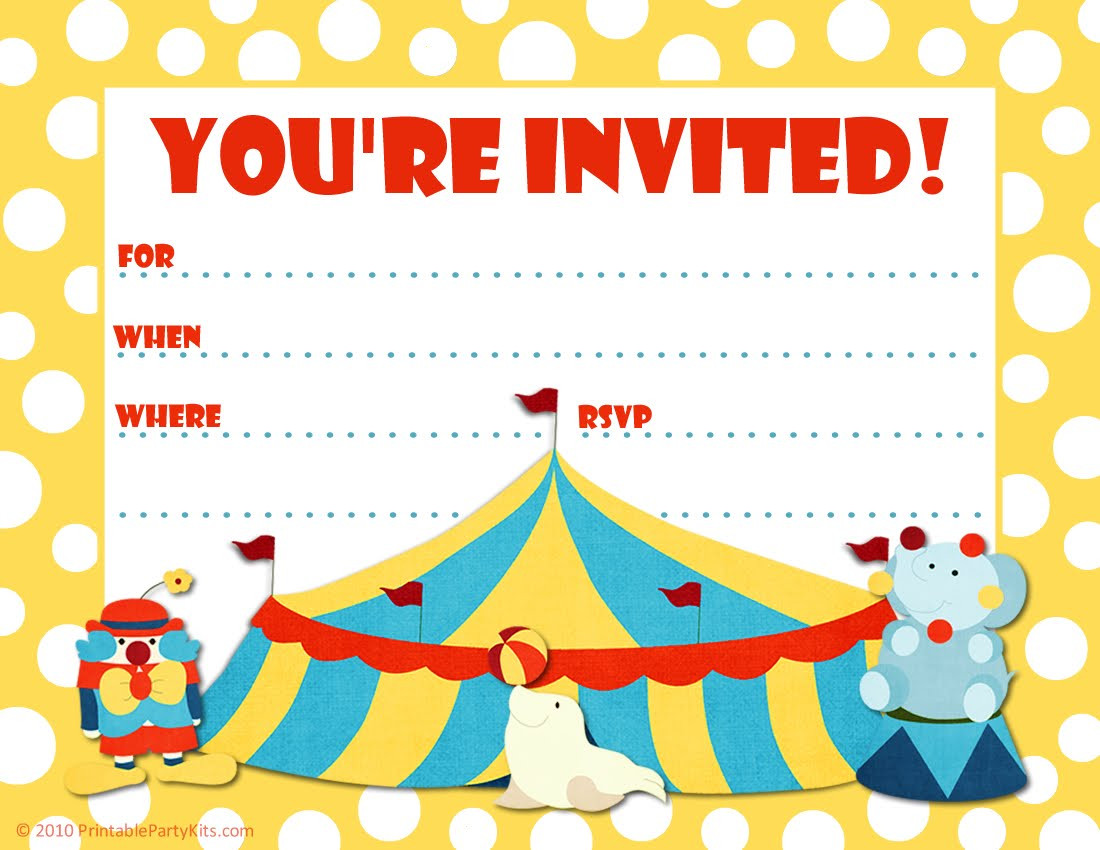 Best ideas about Birthday Party Invitations Free . Save or Pin Printable Birthday Party Invitations – Bagvania FREE Now.