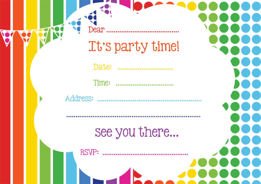 Best ideas about Birthday Party Invitations Free . Save or Pin Free Printable Birthday Invitations line – FREE Now.
