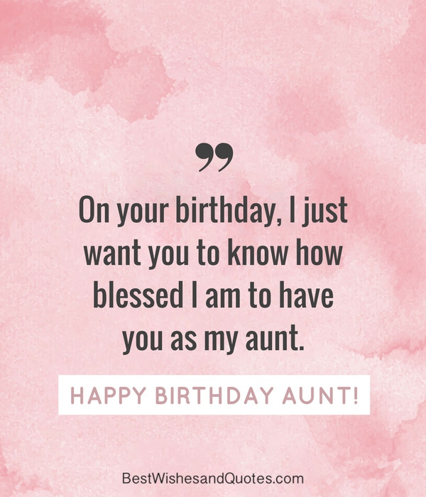 Birthday Quotes For Aunt  Happy Birthday Aunt 35 Lovely Birthday Wishes that You