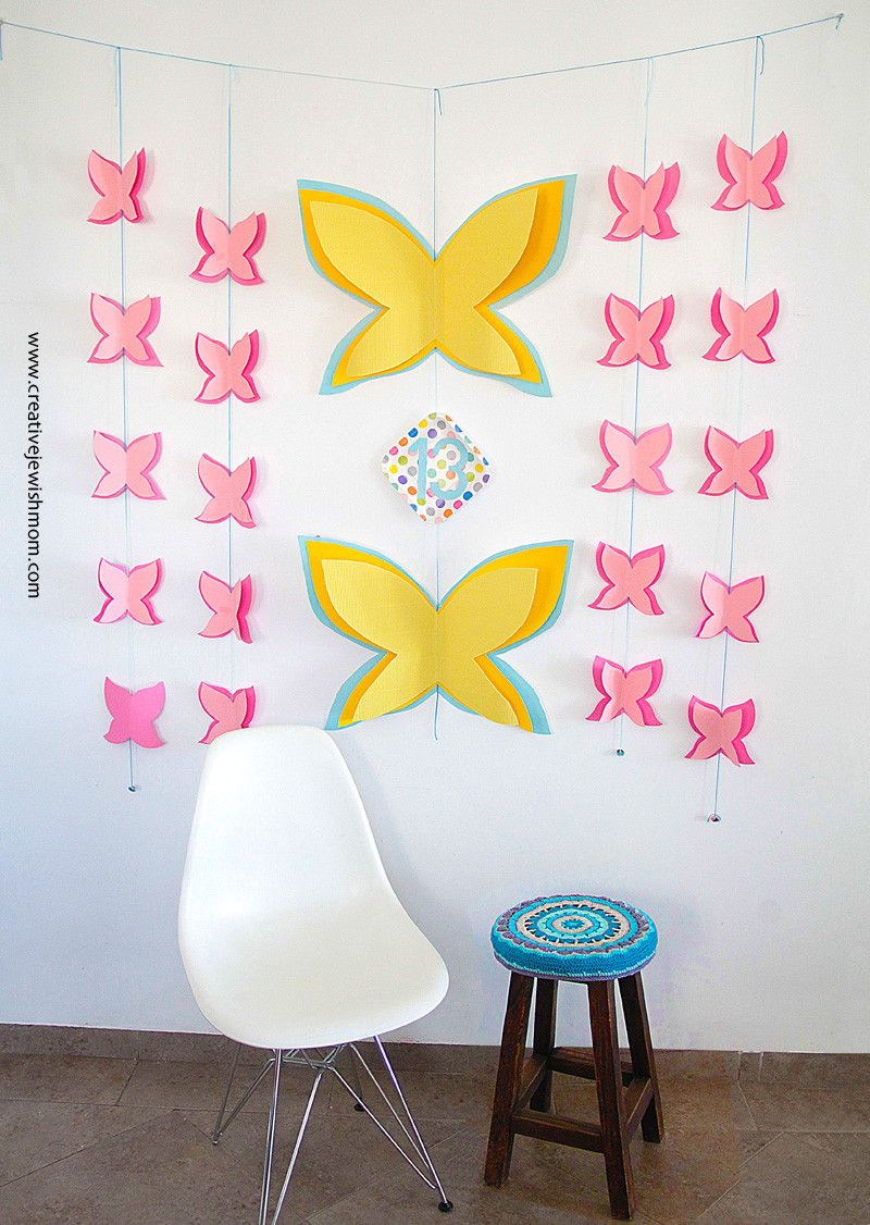 Best ideas about Birthday Wall Decorations . Save or Pin Butterfly Birthday Wall Decor That Works For Many Now.