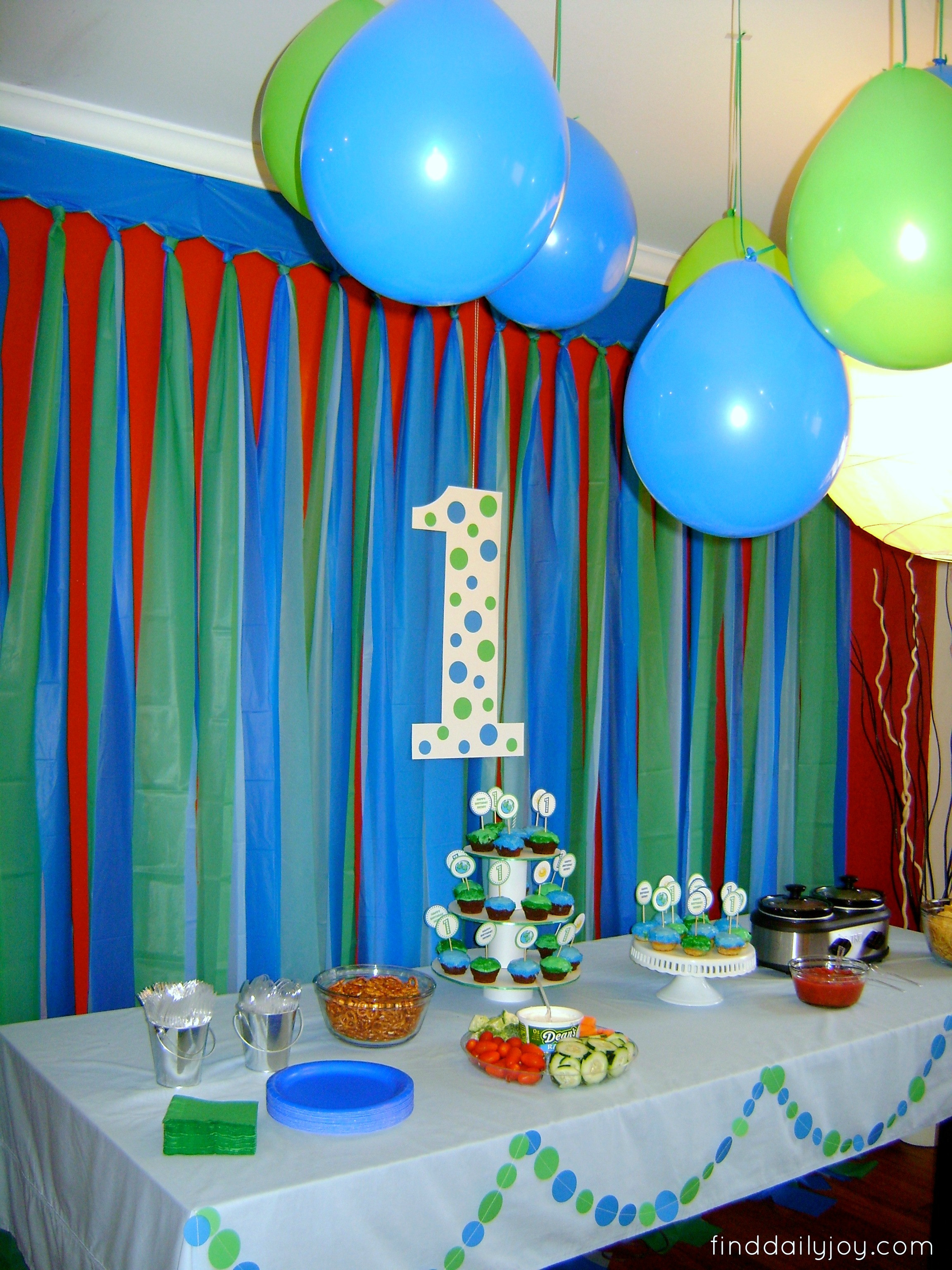 """Best ideas about Birthday Wall Decorations . Save or Pin Henry's """"First Trip Around The Sun"""" Birthday Party Now."""