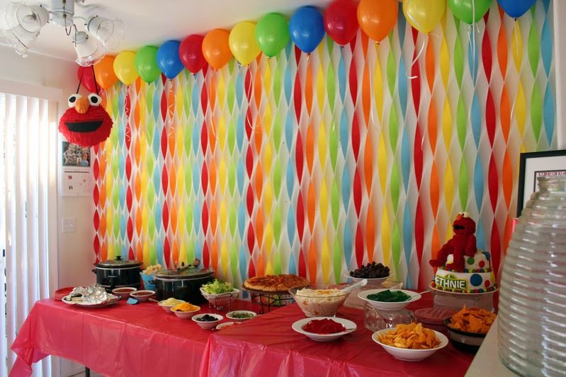 Best ideas about Birthday Wall Decorations . Save or Pin Get Your Craft Elmo s World Birthday streamer wall Now.