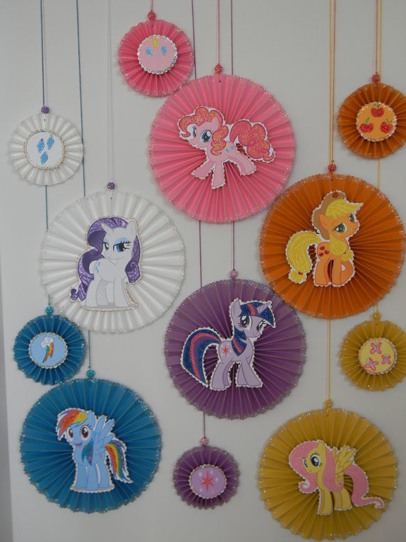 Best ideas about Birthday Wall Decorations . Save or Pin Pony Party Decoration Party decoration Paper rosettes Now.