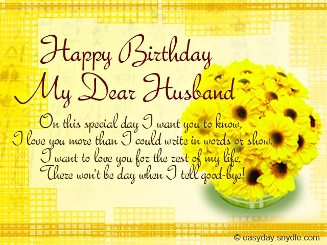 Birthday Wish For Husband  Birthday Messages for Your Husband Easyday