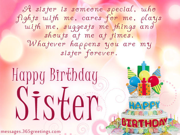 Birthday Wish To Sister  Birthday wishes For Sister that warm the heart