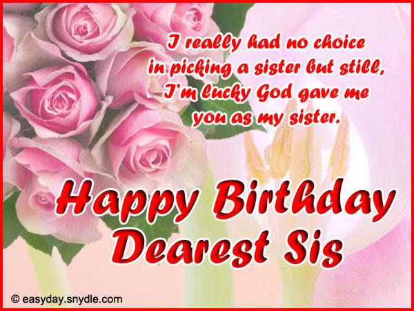 Birthday Wish To Sister  Happy Birthday Wishes and Birthday Birthday wishes