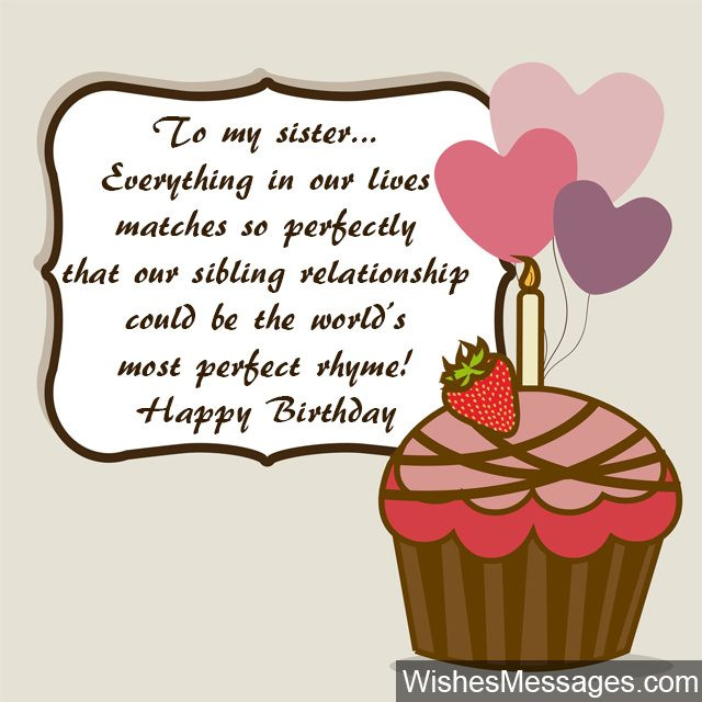 Birthday Wish To Sister  Birthday Wishes for Sister Quotes and Messages