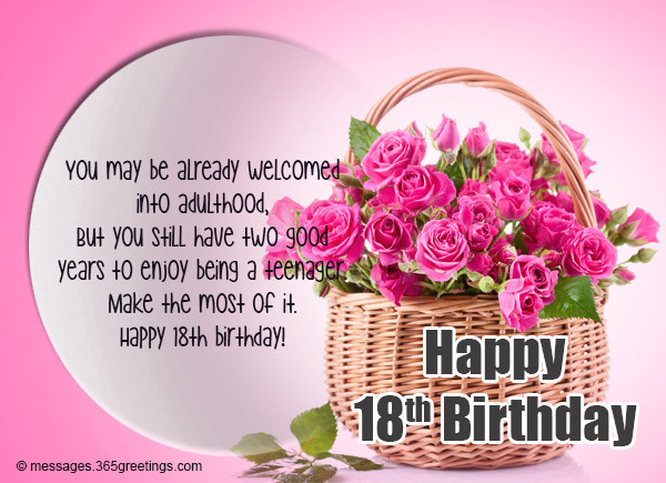 Best ideas about Birthday Wishes For 18 Year Old . Save or Pin 18th Birthday Wishes Messages and Greetings Now.