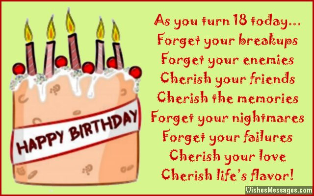 Best ideas about Birthday Wishes For 18 Year Old . Save or Pin 18th Birthday Wishes for Son or Daughter Messages from Now.