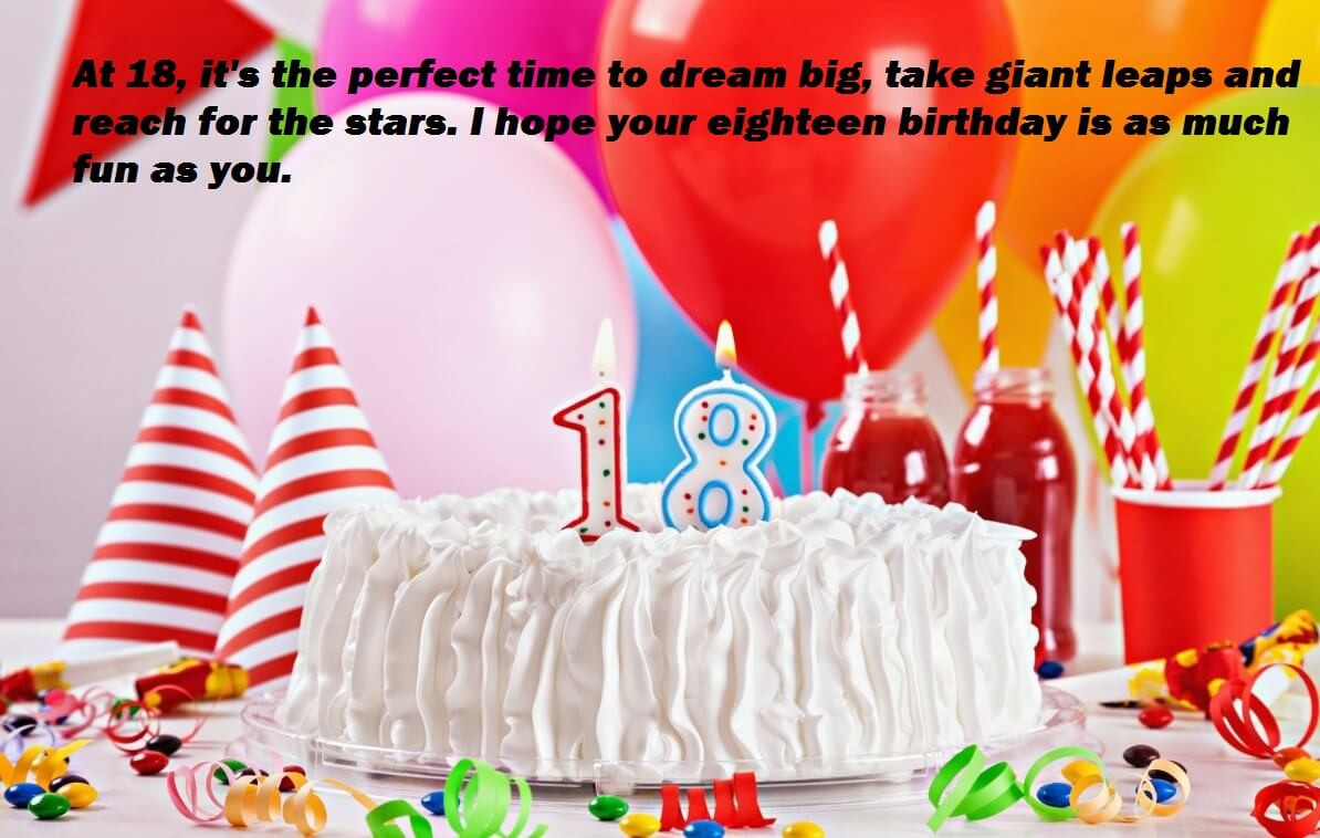 Best ideas about Birthday Wishes For 18 Year Old . Save or Pin Happy Birthday Wishes Cake For 18 Year Old Now.